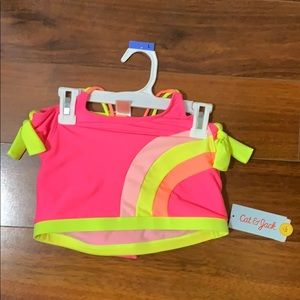 Cat and Jack girls swim suit set